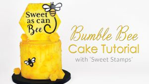 Bumble Bee Drip Cake Tutorial