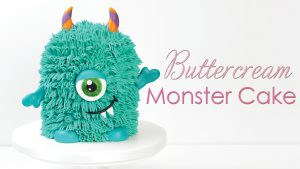 Buttercream Halloween Monster cake tutorial