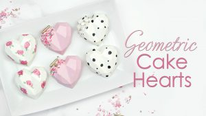 Geometric Cake Hearts tutorial