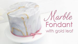 Marble effect Fondant tutorial