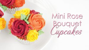 mini rose buttercream cupcake tutorial