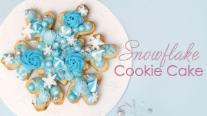 Snowflake Frozen Cookie Cake Tutorial