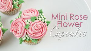 Mini flower cupcakes tutorial