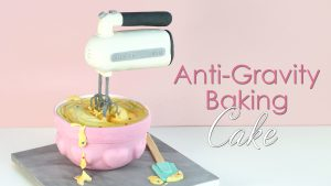 Anti gravity baking theme carved 3d cake tutorial