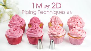 1m vs 2d cupcake piping techniques