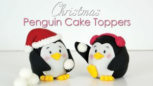 Penguin cake topper tutorial