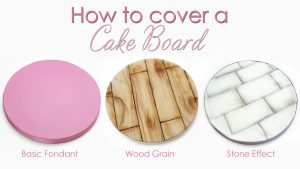 How to cover your cake board