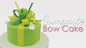 bow cake tutorial