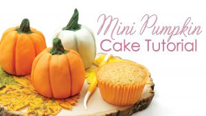 mini pumpkin Cake Tutorial using cupcakes