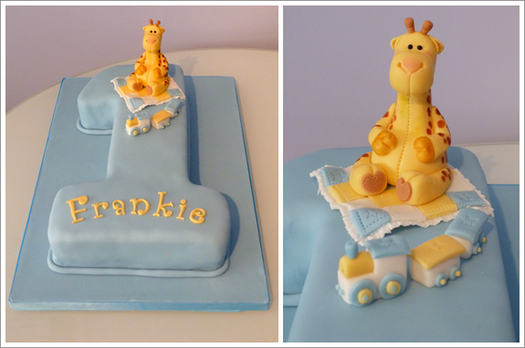 Number 1 Giraffe Birthday Cake Cakes by Lynz