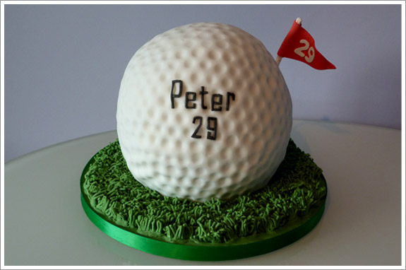 How To Make A Golf Ball Cake With Fondant