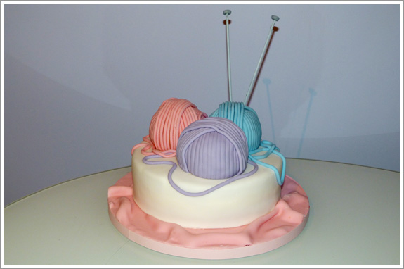 Knitting Cakes Images : Knitting birthday cake u cakes by lynz