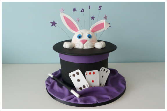 Rabbit In A Hat Cake