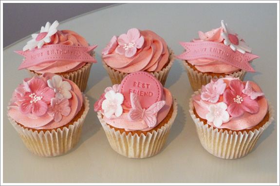 Pink Best Friend Cupcakes Cakes By Lynz