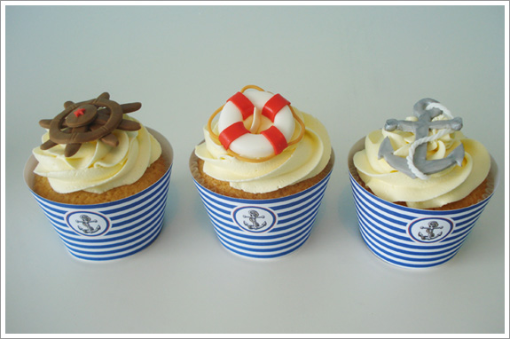 Nautical Cupcakes   Cakes by Lynz