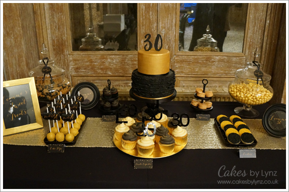 Black amp Gold Dessert Table Cakes By Lynz