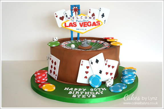 Las Vegas Themed Roulette Wheel Cake Cakes By Lynz