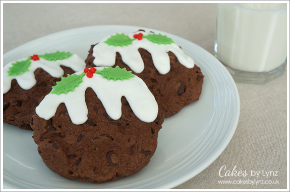 Christmas Chocolate Chip Christmas Pudding Cookies Cakes By Lynz