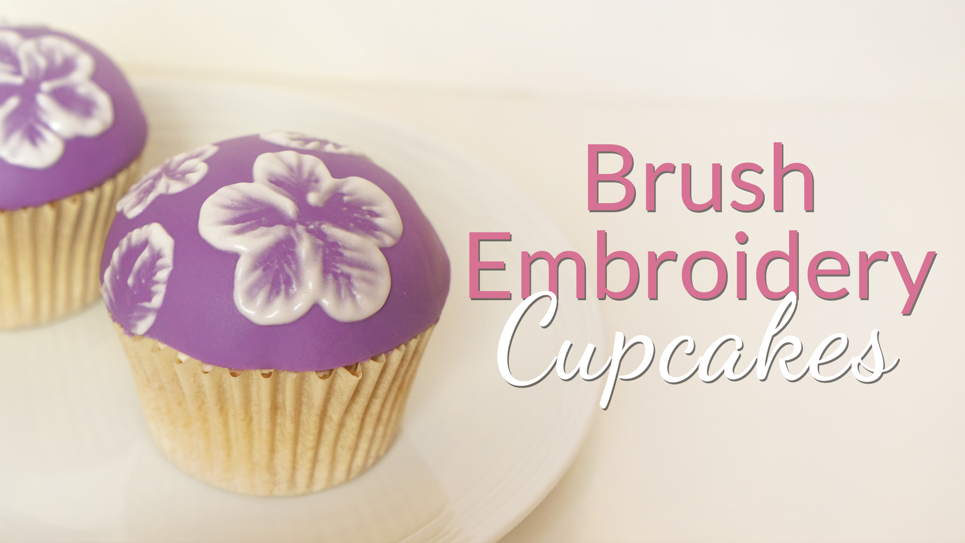 Click to view my brush embroidery cupcake tutorial