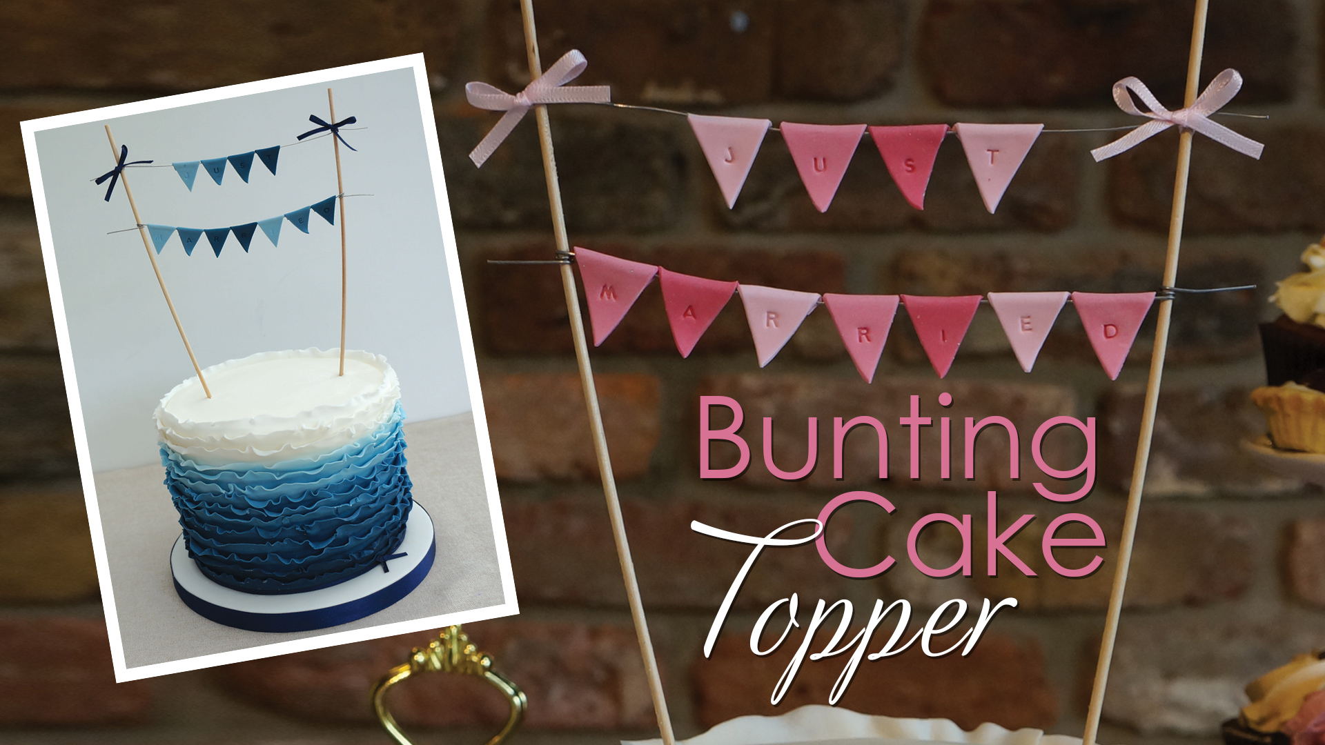 Click to view my gumpaste bunting cake decorating tutorial