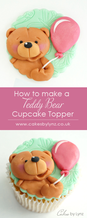Teddy Bear cupcake topper tutoria