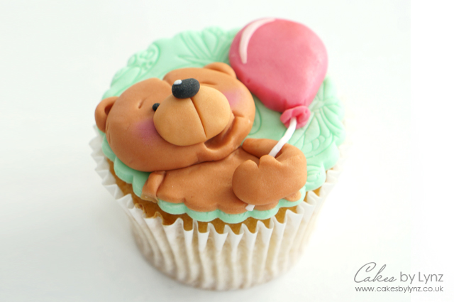 teddy bear cupcake topper 1