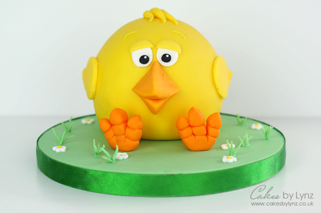 Easter Chick Cake tutorial