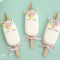 unicorn cakesicles