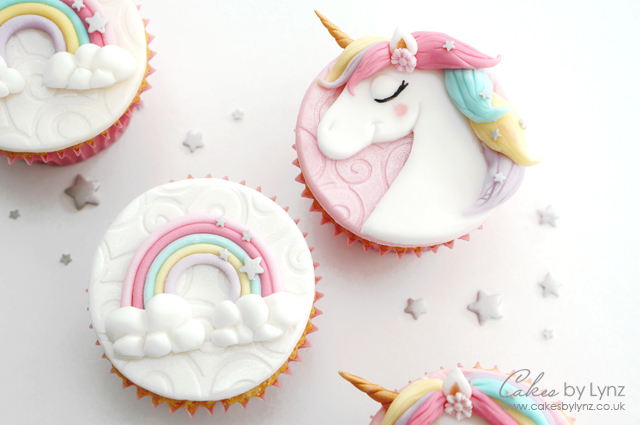 Unicorn & Rainbow Cupcake Toppers Tutorial – Cakes by Lynz