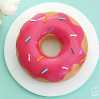 Giant Donut cake tutorial