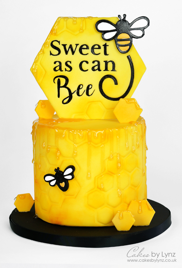 Bumble Bee Sweetstamp Cake Tutorial