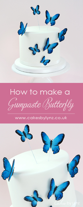 gumpaste sugar butterfly tutorial