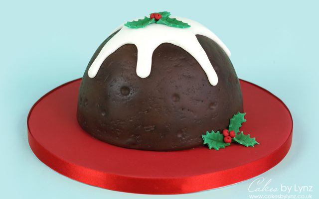 Christmas Pudding Cake tutorial
