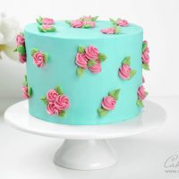 Buttercream Rose Cake Tutorial