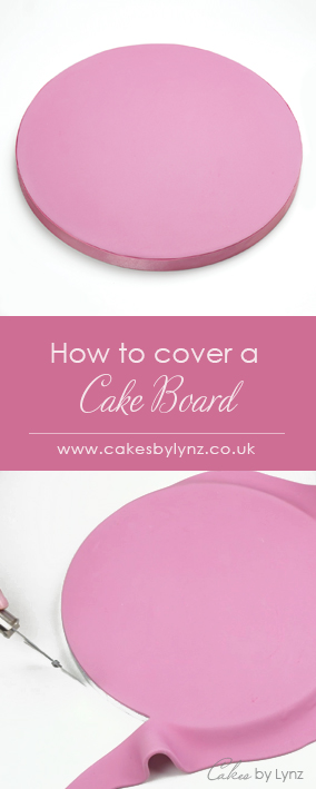 How to cover a cake board in fondant
