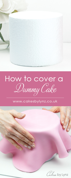How to cover a dummy cake in fondant