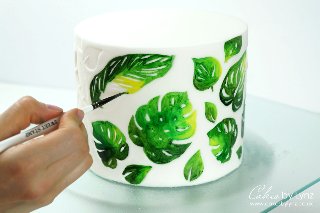 Painting tropical leaves tutorial