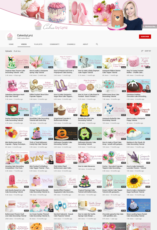 Cakes by Lynz Youtube channel