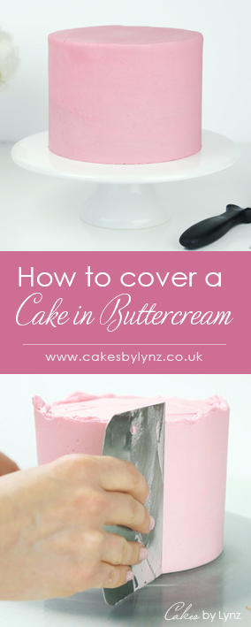 Covering a buttercream cake