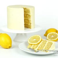 Lemon Drizzle Cake recipe with lemon ganache