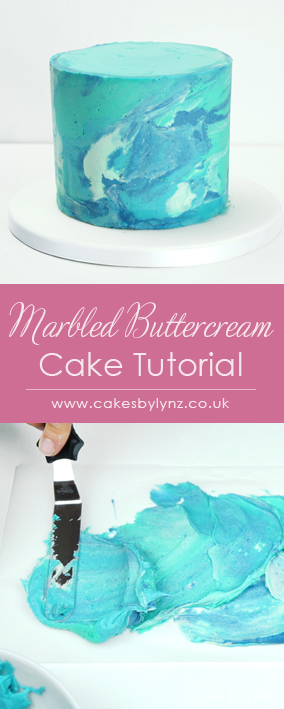 How to create a marbled buttercream cake tutorial