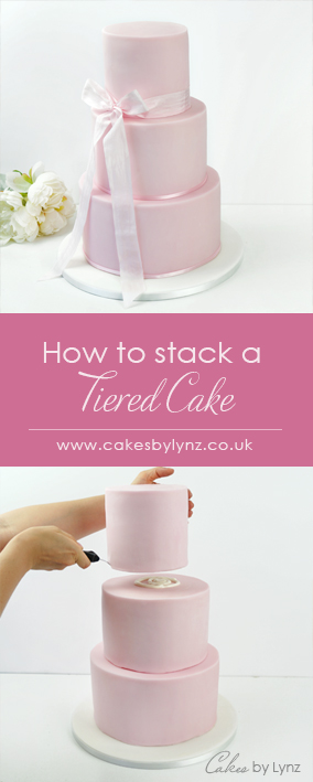 how to stack a tiered wedding cake