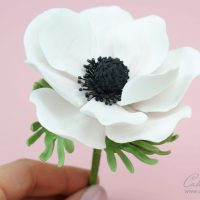 gumpaste anemone flower tutorial