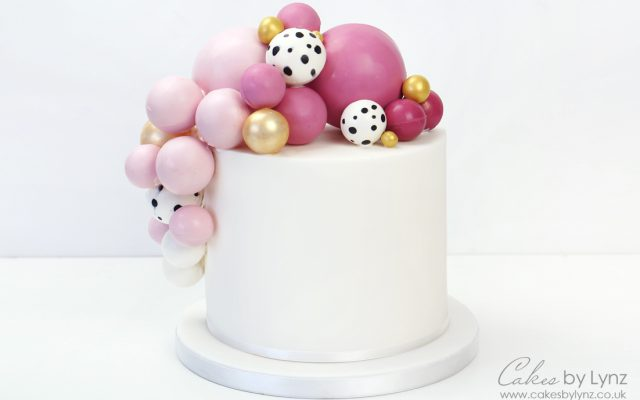 Chocolate Balls / sphere balloon cake tutorial