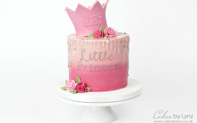 Little Princess Crown Glitter Cake Tutorial