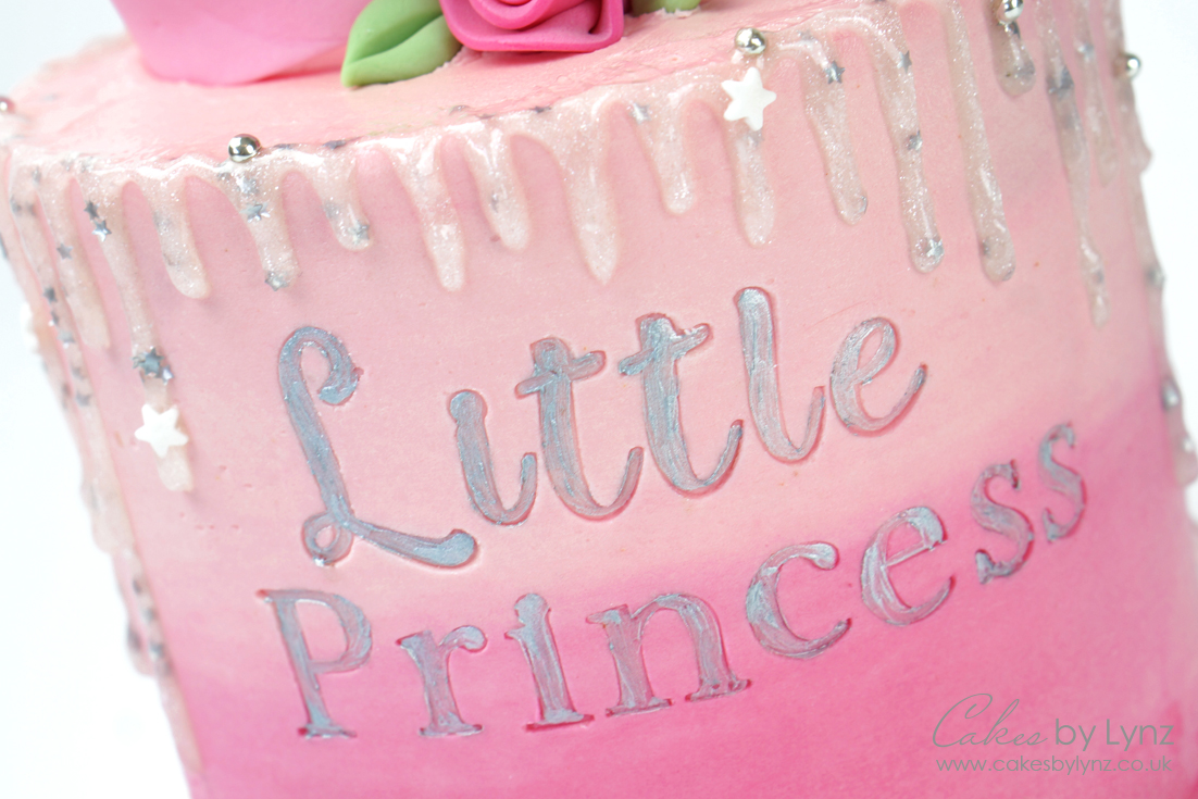 Little Princess GLitter drip cake