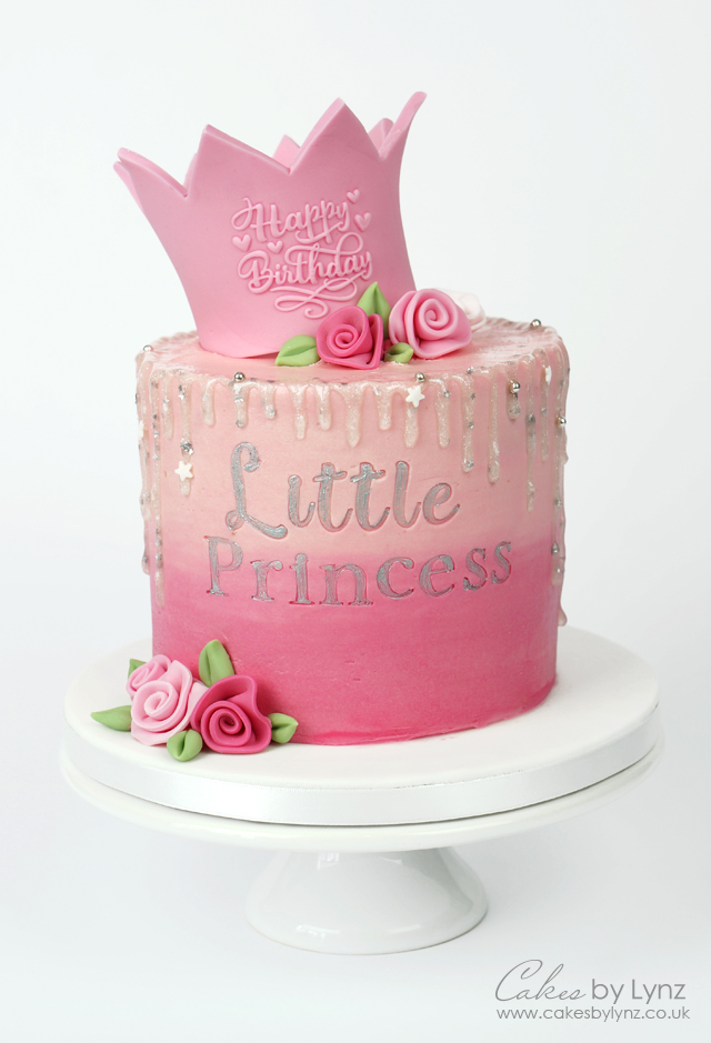Little Princess glitter crown cake tutorial