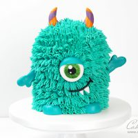 Halloween Monster Cake with buttercream fur