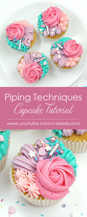 buttercream cupcake piping techniques