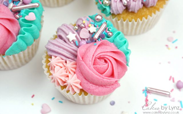 buttercream cupcake piping techniques tutorial